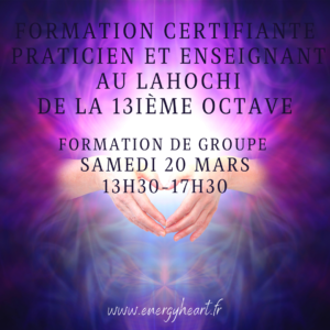 Initiation Lahochi 13ème octave à distance
